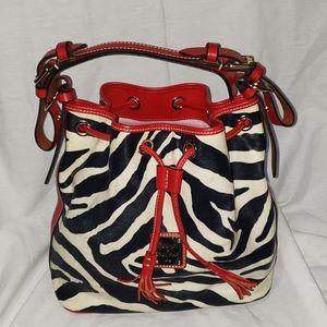 Dooney and Burke Bucket Zebra Handbag